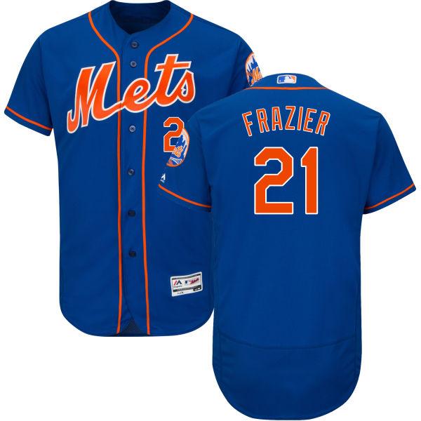 Mets 21 Todd Frazier Blue Flexbase Jersey