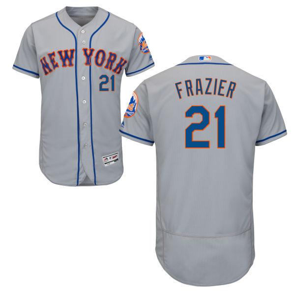 Mets 21 Todd Frazier Gray Flexbase Jersey