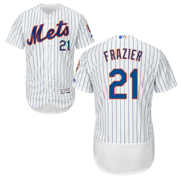Mets 21 Todd Frazier White Flexbase Jersey