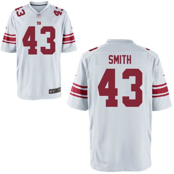 Nike Giants 43 Shane Smith White Youth Game Jersey
