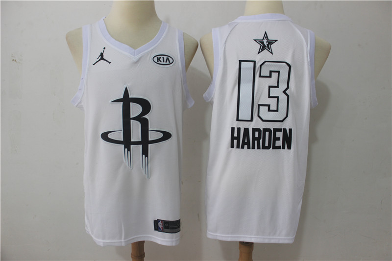 Rockets 13 James Harden White 2018 All-Star Game Swingman Jersey