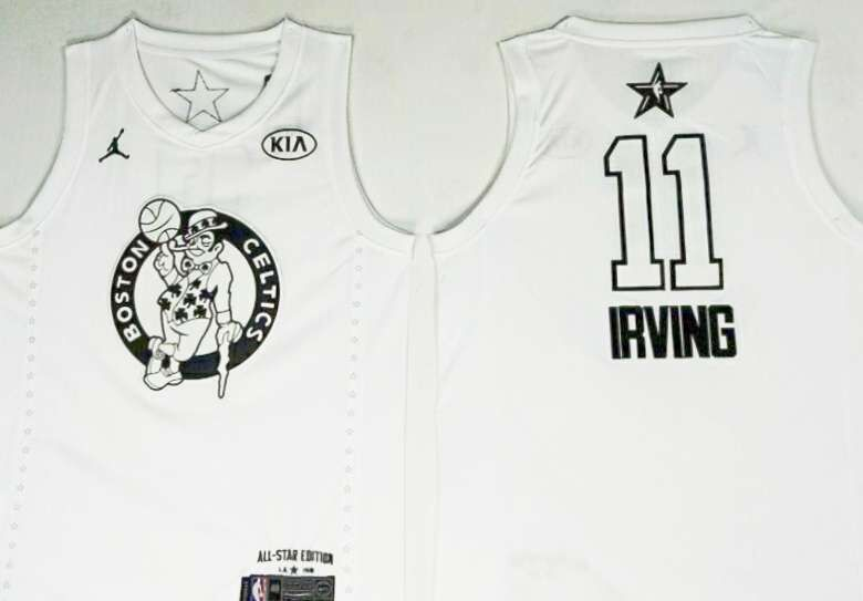 Celtics 11 Kyrie Irving White 2018 All-Star Game Jordan Brand Authentic Jersey