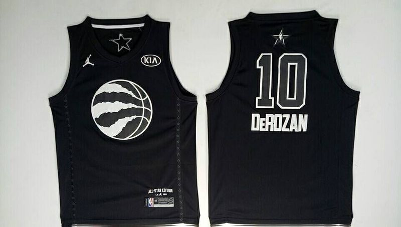 Raptors 10 DeMar DeRozan Black 2018 All-Star Game Jordan Brand Authentic Jersey