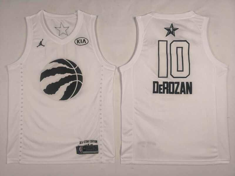 Raptors 10 DeMar DeRozan White 2018 All-Star Game Jordan Brand Authentic Jersey