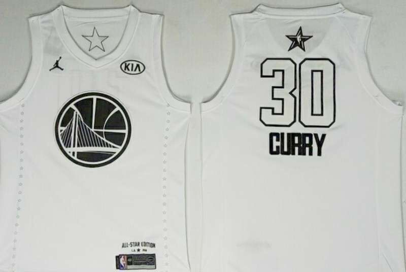 Warriors 30 Stephen Curry White 2018 All-Star Game Jordan Brand Authentic Jersey