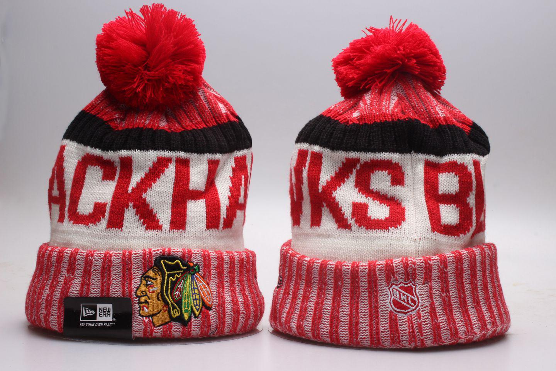 Blackhawks Team Logo Knit Hat