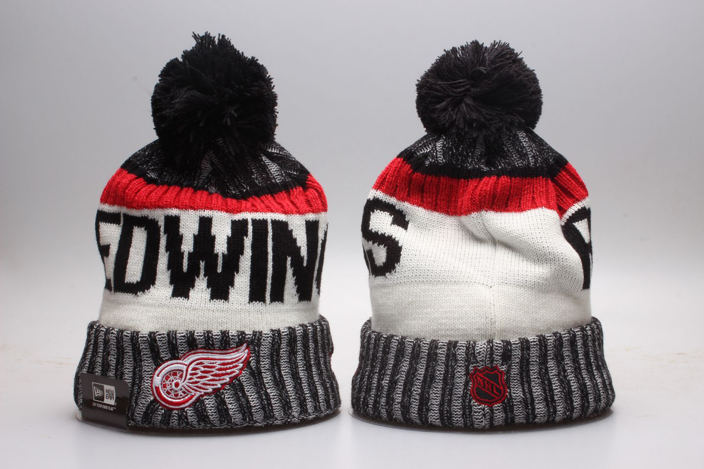 Red Wings Team Logo Knit Hat