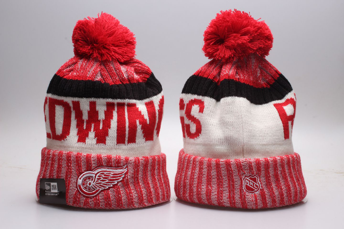 Red Wings Team Logo Red Knit Hat