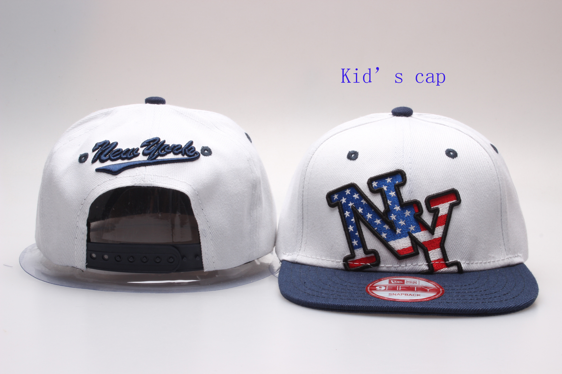 New York USA Flag Logo Kid's Fashion Adjustable Hat YP