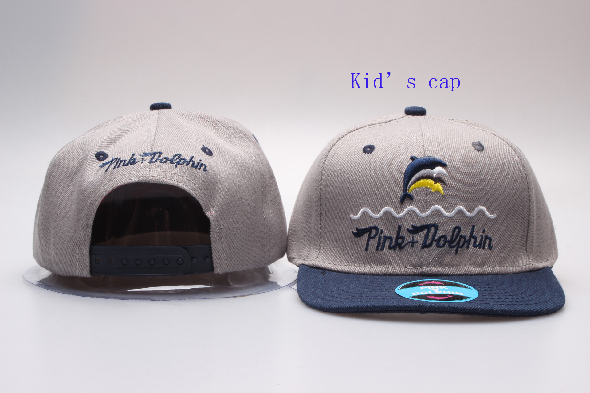Pink Dolphin Logo Kid's Snapback Adjustable Hat YP