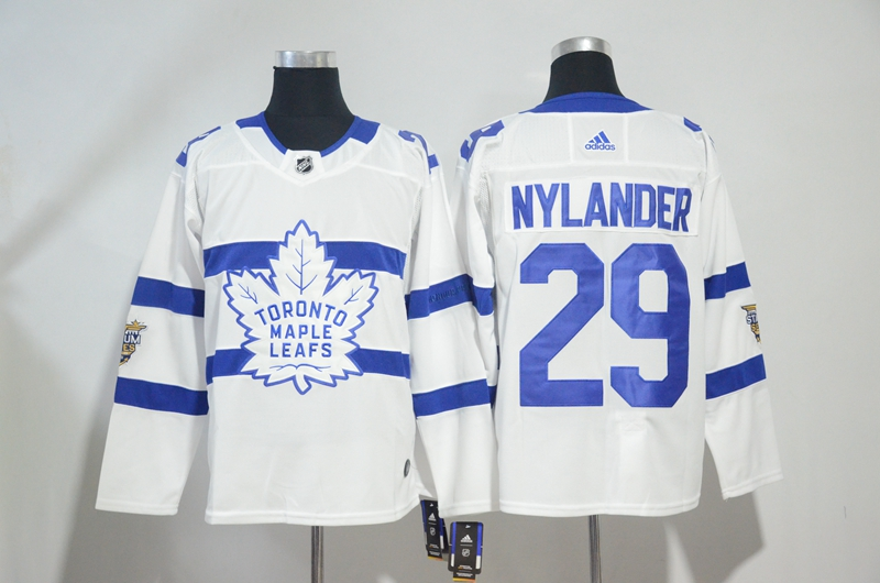 Maple Leafs 29 William Nylander White 2018 NHL Stadium Series Adidas Jersey