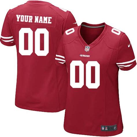 Nike San Francisco 49ers Red Women Customized Game Jersey