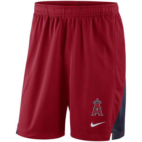 Men's Los Angeles Angels Nike Red Franchise Performance Shorts