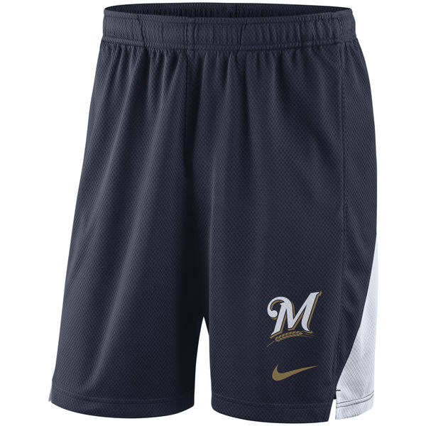 Men's Milwaukee Brewers Nike Navy Franchise Performance Shorts