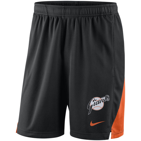 Men's San Francisco Giants Nike Black Franchise Performance Shorts