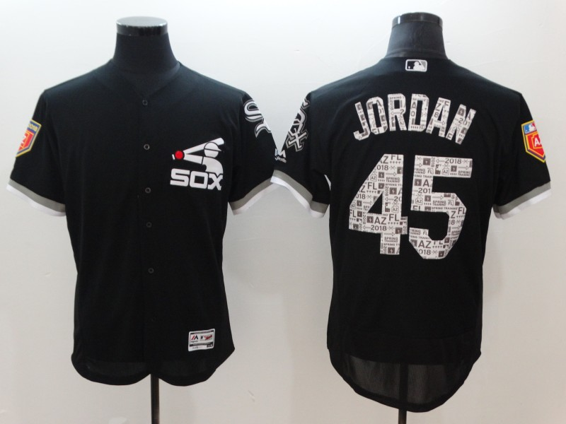 White Sox 45 Michael Jordan Black 2018 Spring Training Flexbase Jersey
