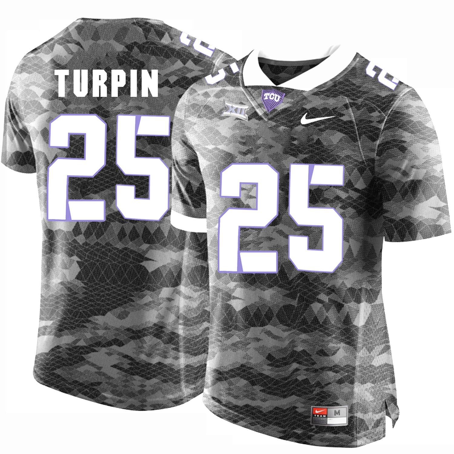 TCU Horned Frogs 25 KaVontae Turpin Gray College Football Jersey