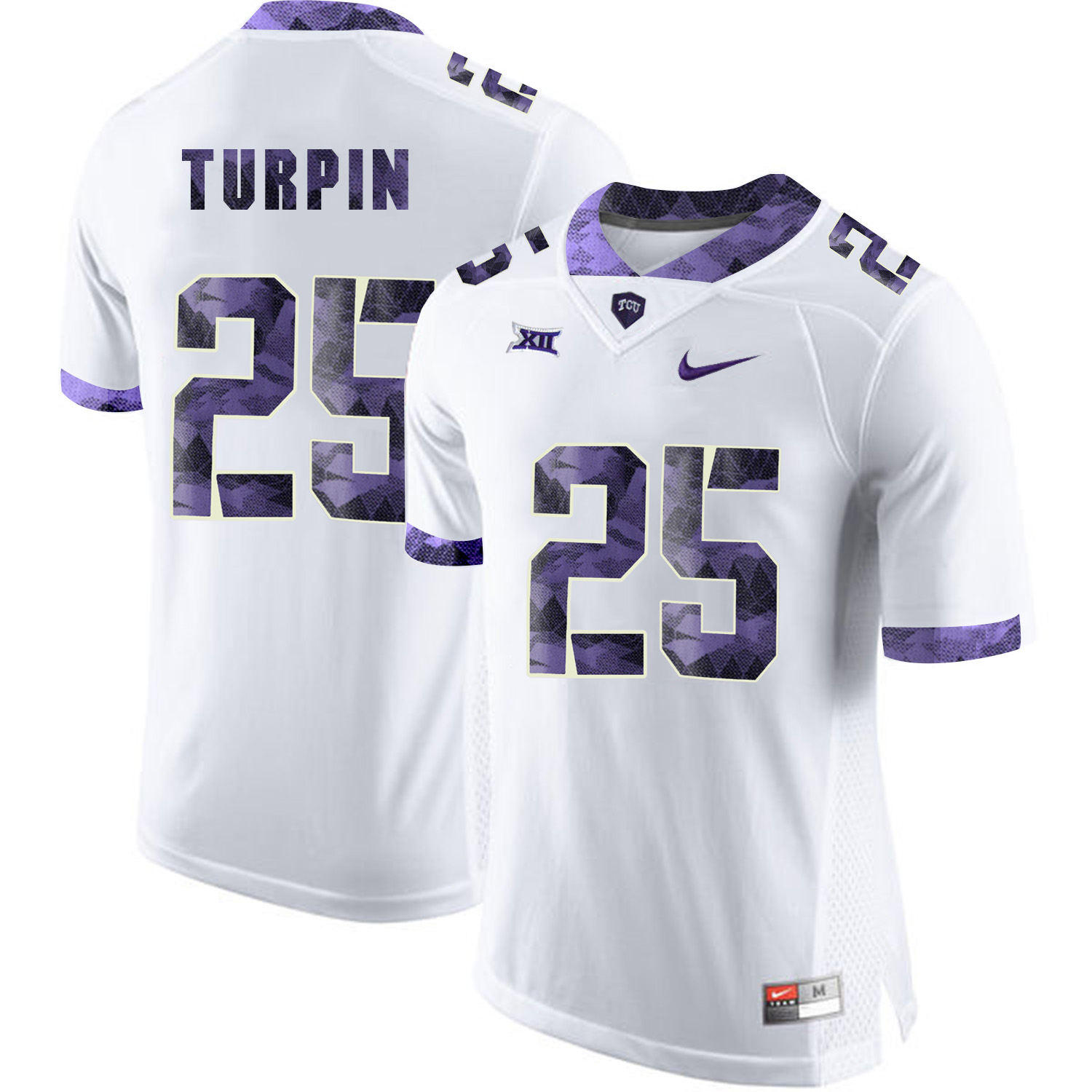 TCU Horned Frogs 25 KaVontae Turpin White College Football Jersey