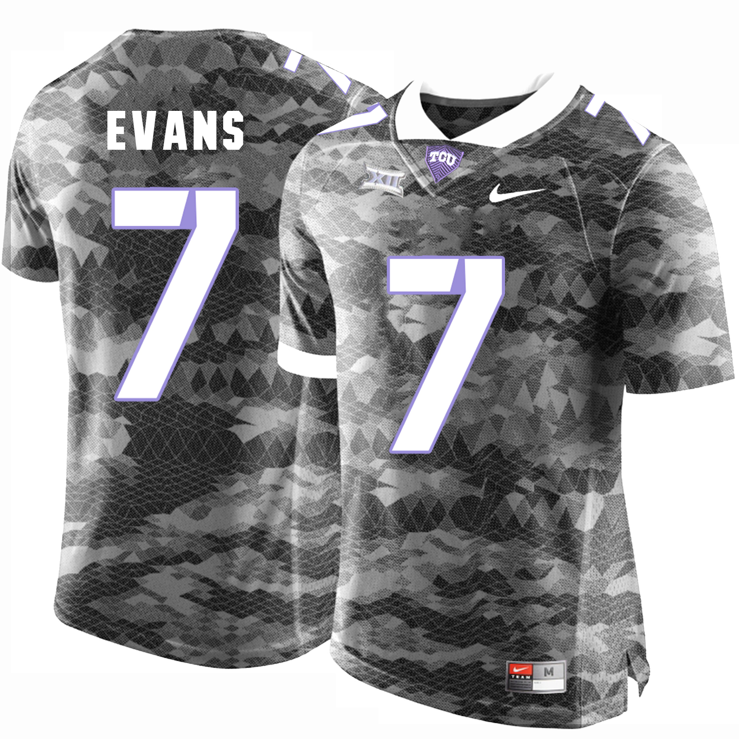 TCU Horned Frogs 7 Arico Evans Gray College Football Jersey