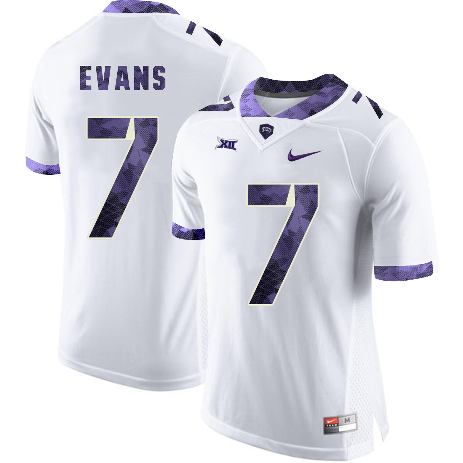 TCU Horned Frogs 7 Arico Evans White College Football Jersey