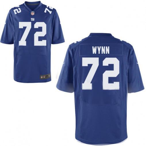 Nike Giants 72 Kerry Wynn Royal Elite Jersey