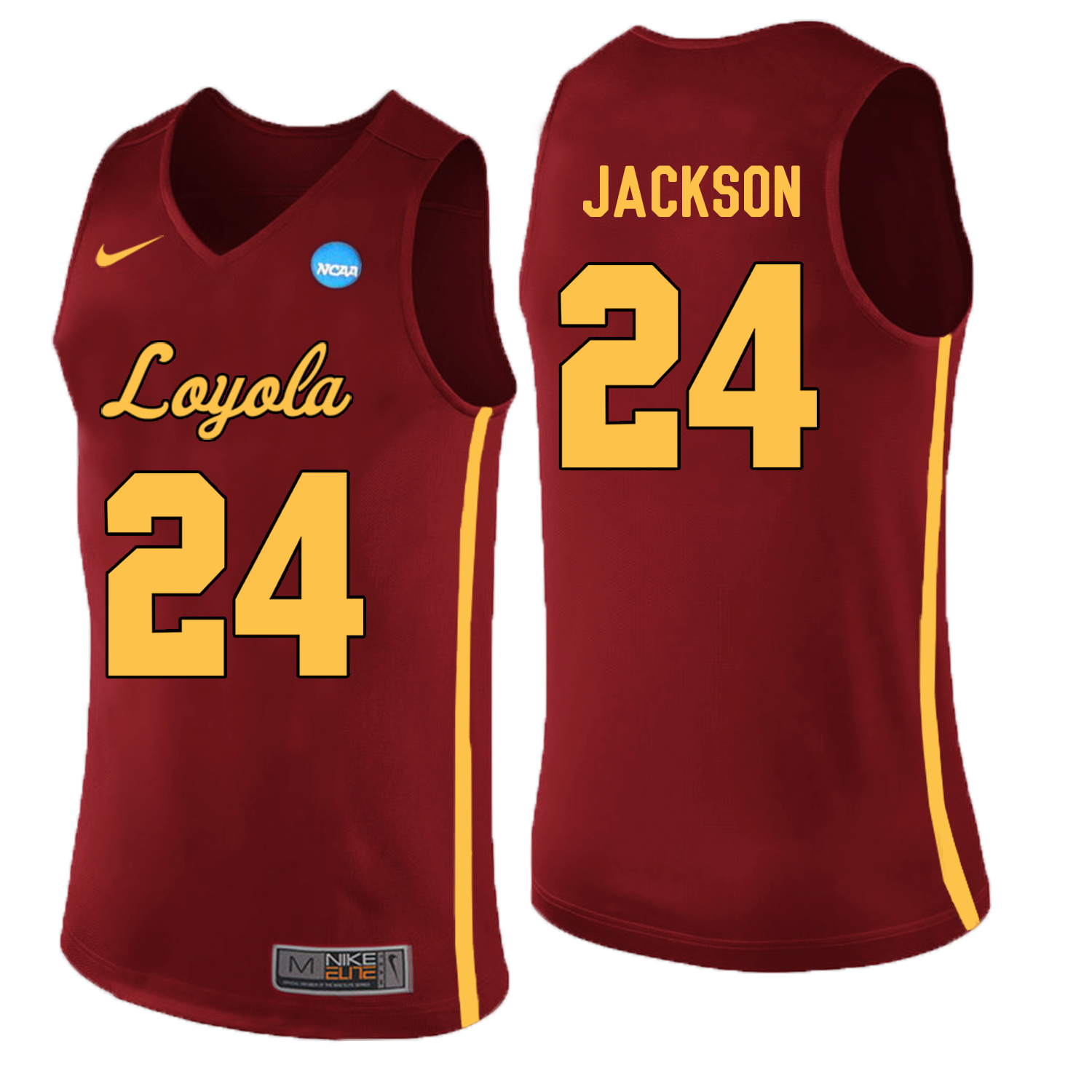 Loyola (Chi) Ramblers 24 Aundre Jackson Red College Basketball Jersey