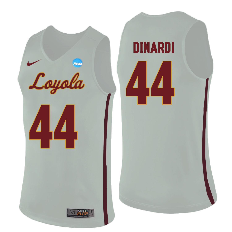 Loyola (Chi) Ramblers 44 Nick Dinardi White College Basketball Jersey