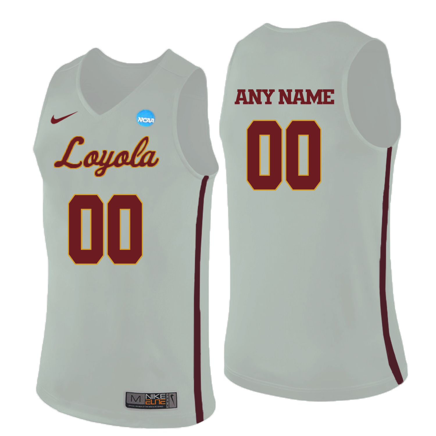 Loyola (Chi) Ramblers White Men's Customized College Basketball Jersey