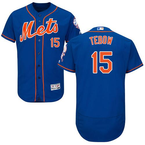 Mets 15 Tim Tebow Blue Flexbase Jersey