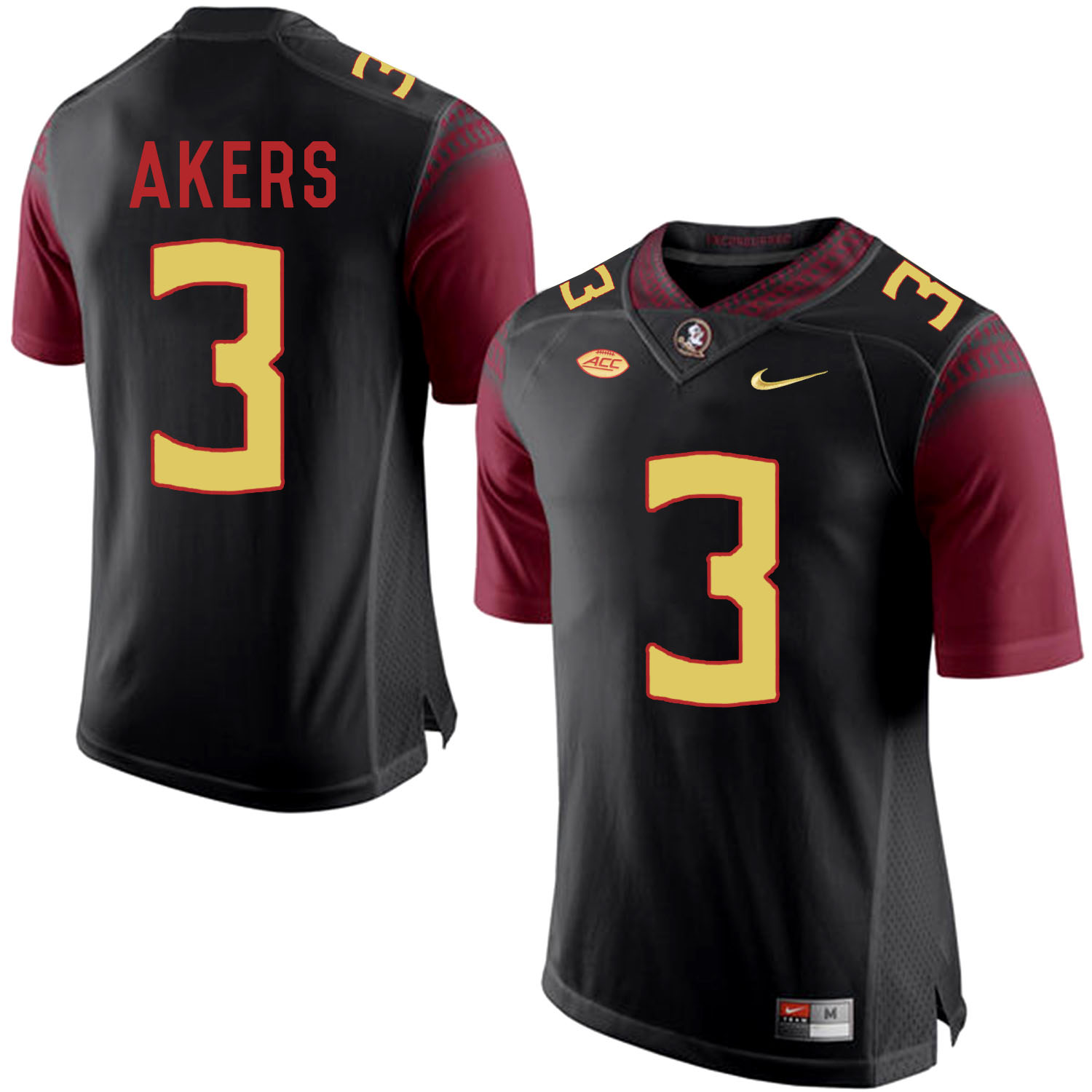 Florida State Seminoles 3 Cam Akers Black College Football Jersey