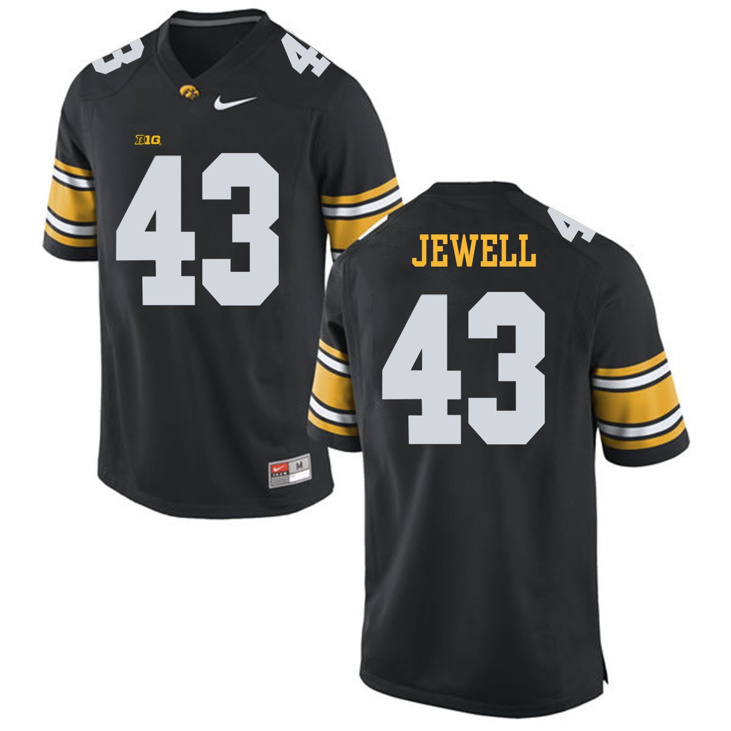 Iowa Hawkeyes 43 Josey Jewell Black College Football Jersey