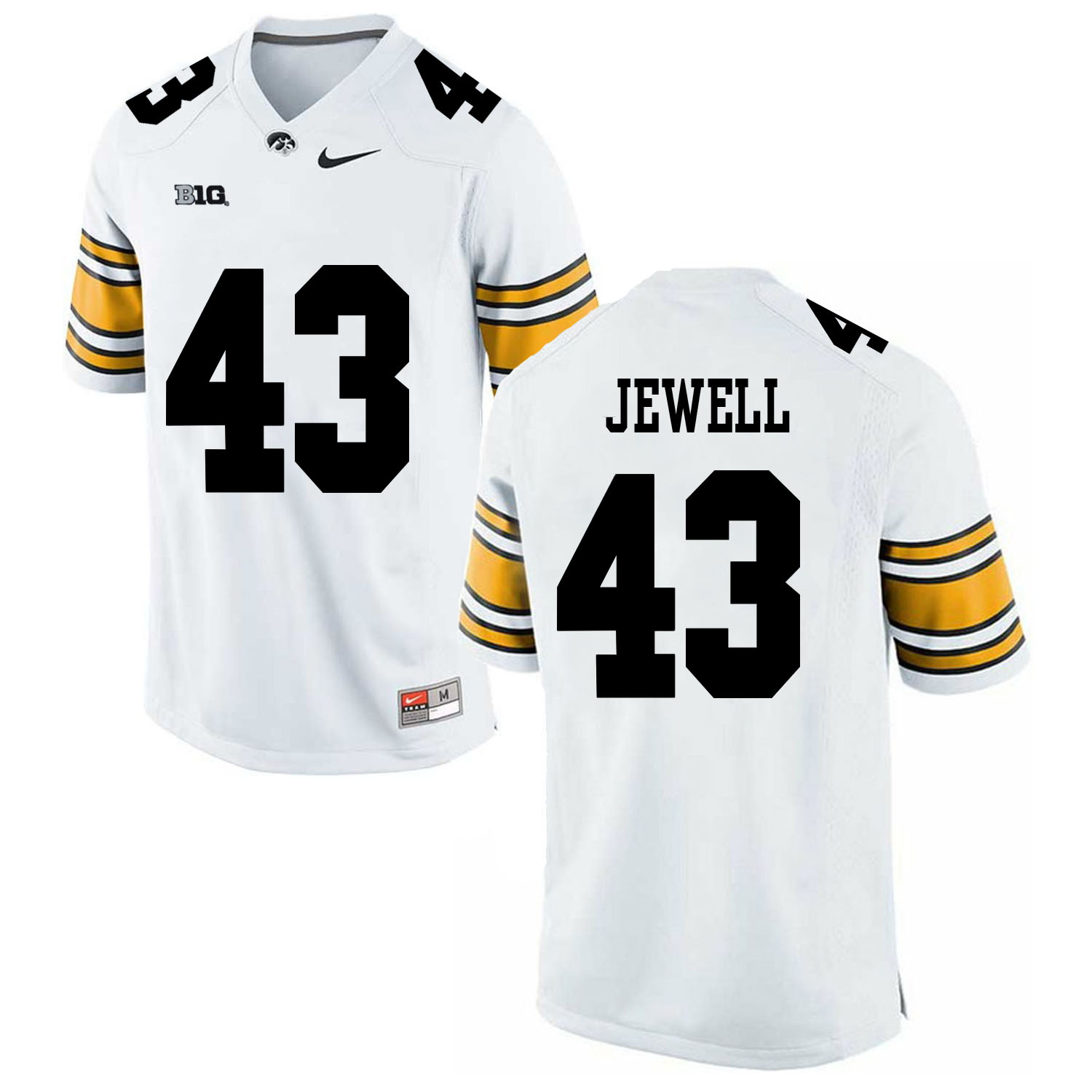 Iowa Hawkeyes 43 Josey Jewell White College Football Jersey