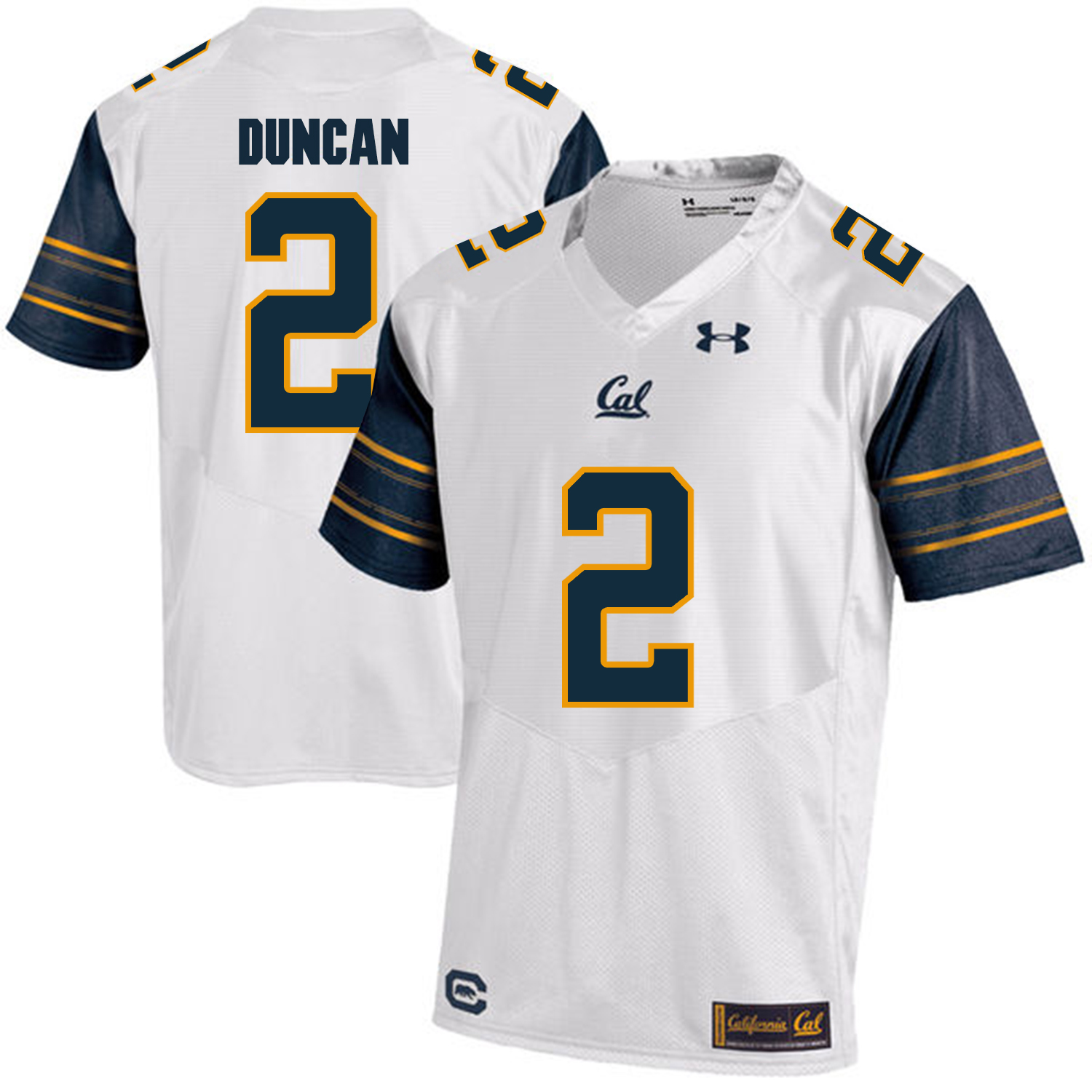 California Golden Bears 2 Jordan Duncan White College Football Jersey