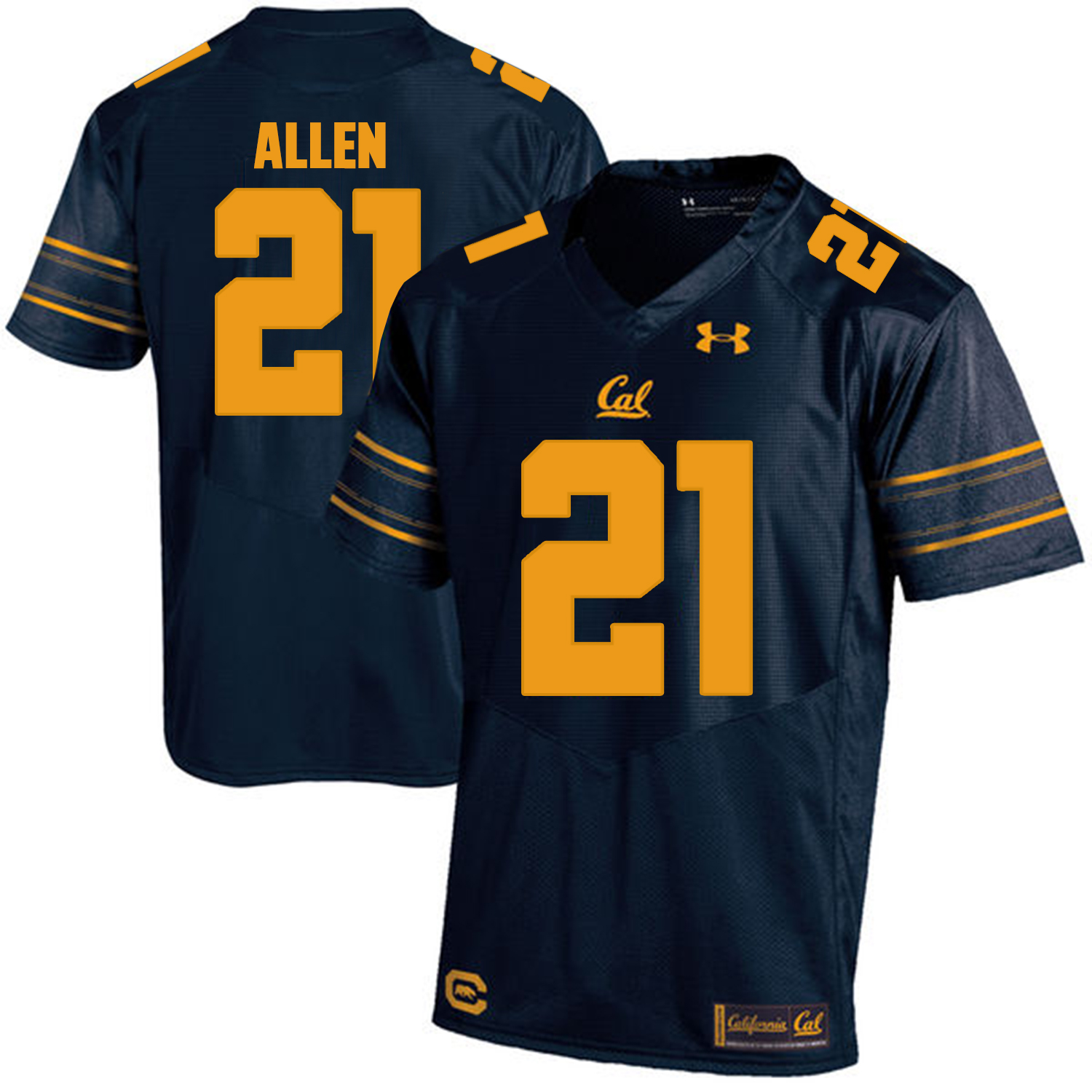 California Golden Bears 21 Keenan Allen Navy College Football Jersey