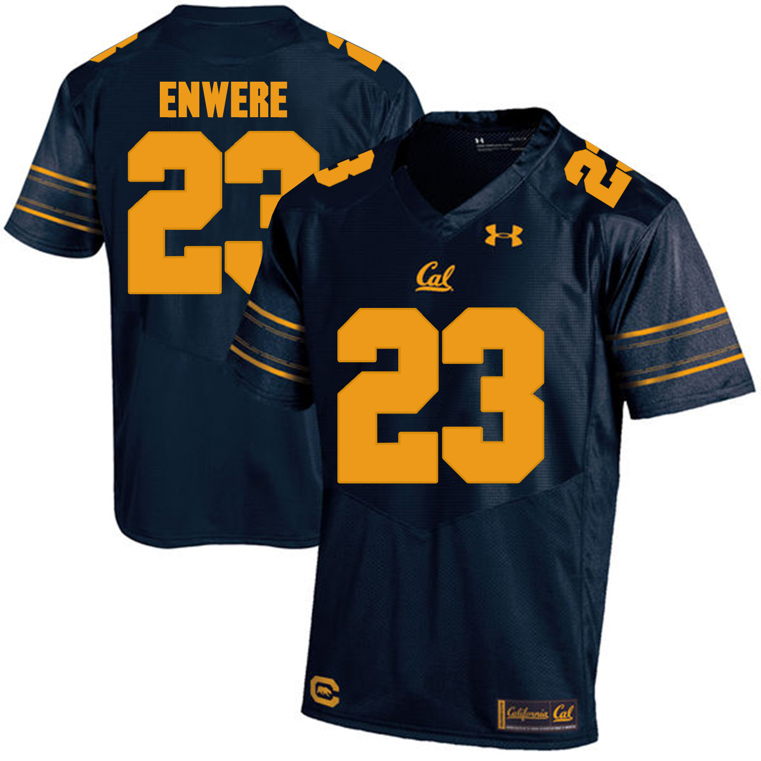 California Golden Bears 23 Vic Enwere Navy College Football Jersey