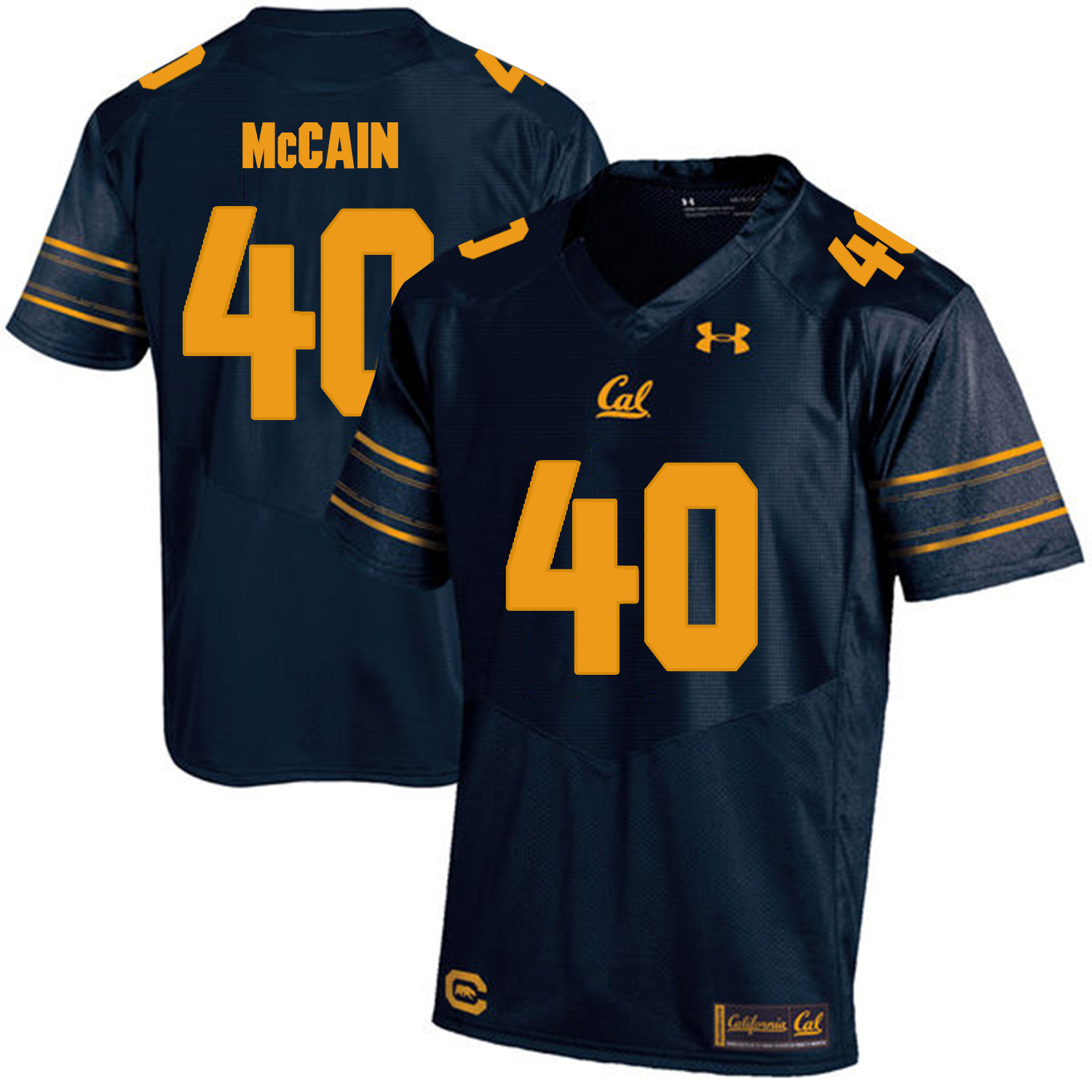 California Golden Bears 40 Chris McCain Navy