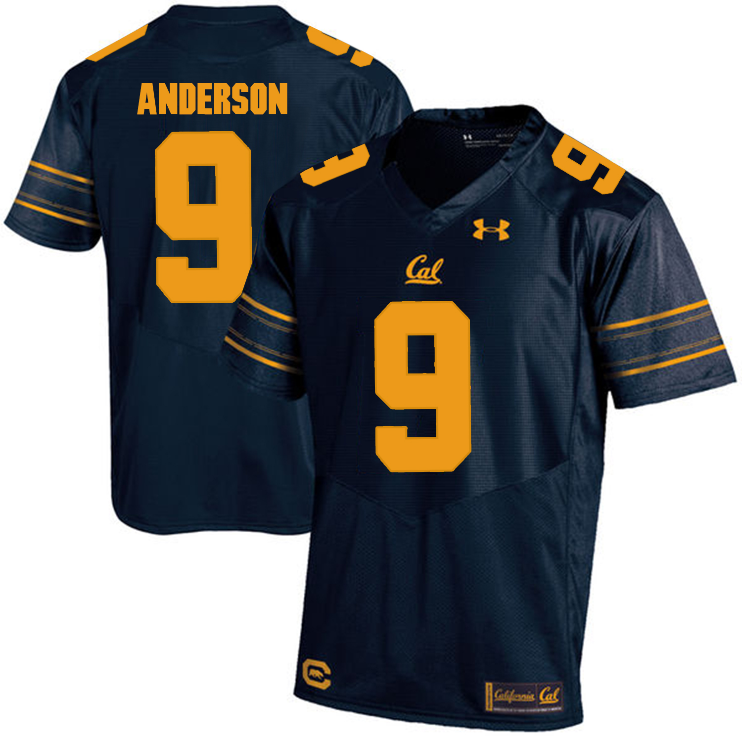 California Golden Bears 9 C.J. Anderson Navy College Football Jersey