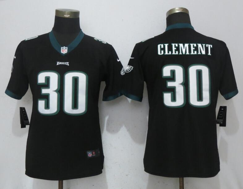 Nike Eagles 30 Corey Clement Black Women Vapor Untouchable Player Limited Jersey
