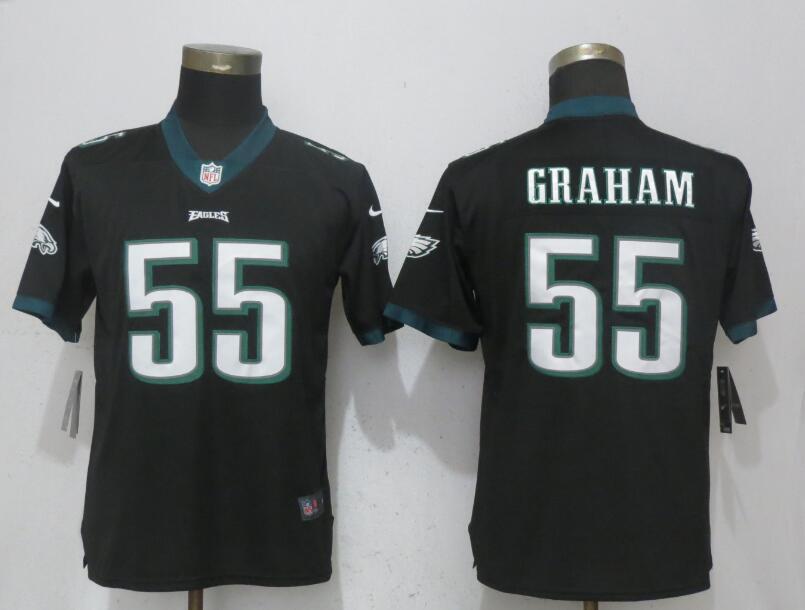 Nike Eagles 55 Brandon Graham Black Women Vapor Untouchable Player Limited Jersey