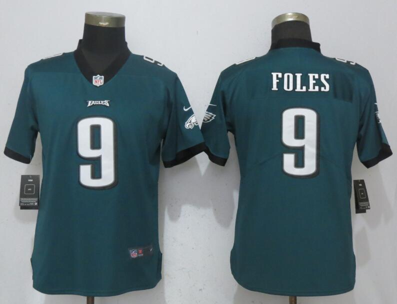 Nike Eagles 9 Nick Foles Green Women Vapor Untouchable Player Limited Jersey