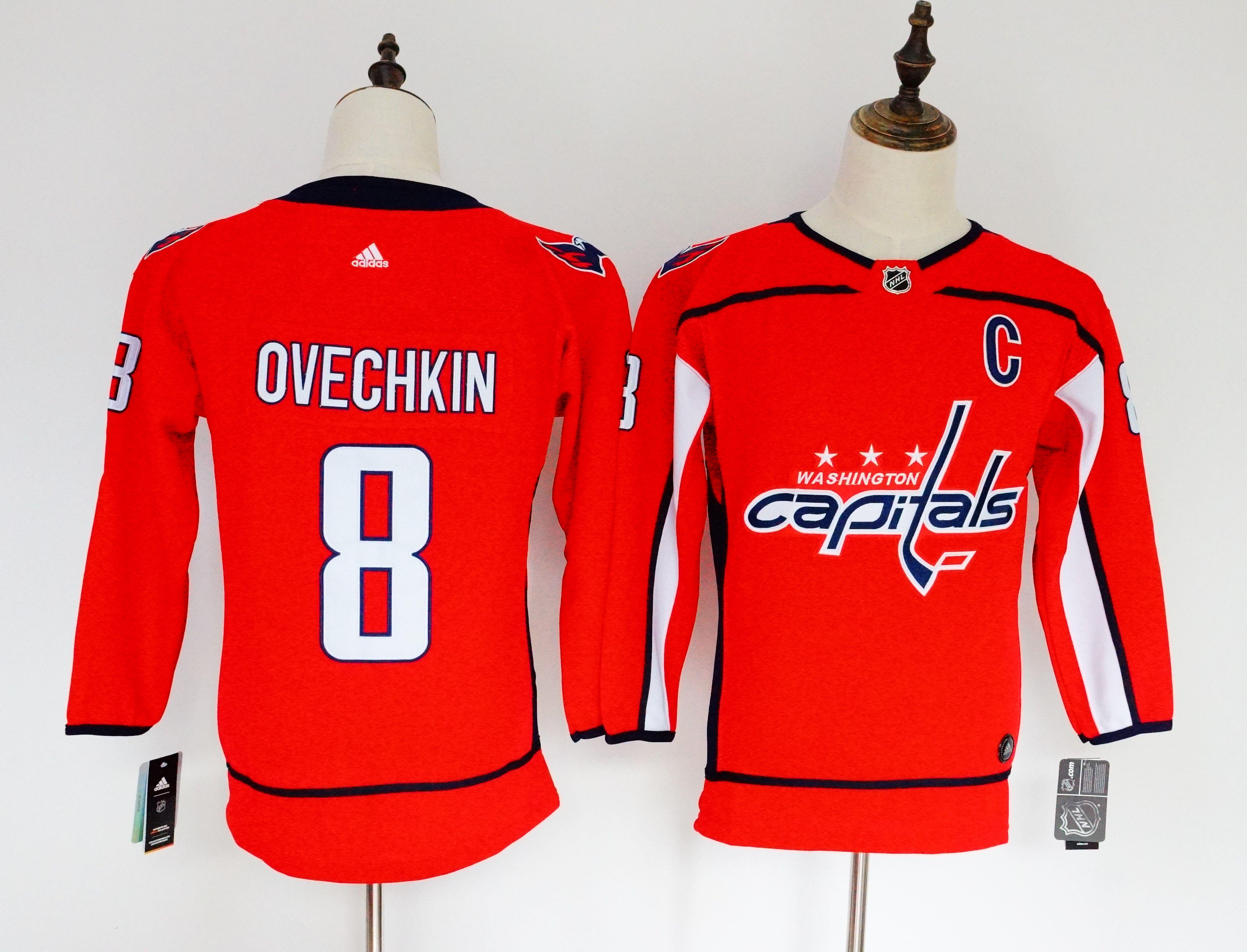 Capitals 8 Alexander Ovechkin Red Women Adidas Jersey