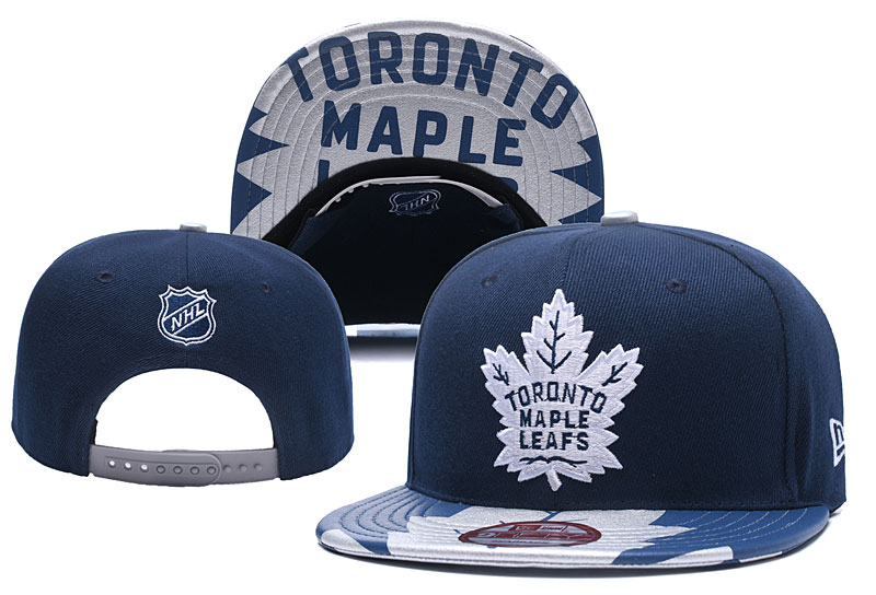 Maple Leafs Team Logo Navy Adjustable Hat YD