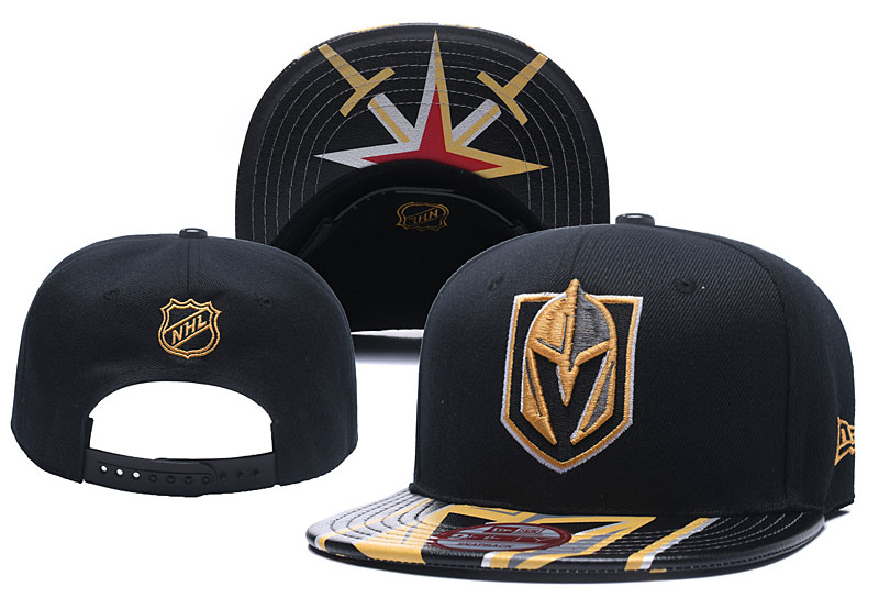 Vegas Golden Knights Team Logo Full Black Adjustable Hat YD