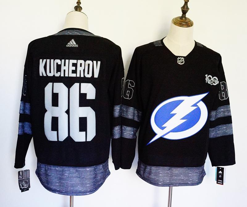 Lightning 86 Nikita Kucherov Black 1917-2017 100th Anniversary Adidas Jersey