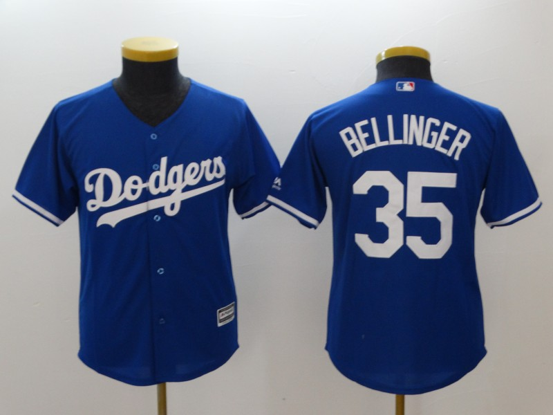 Dodgers 35 Cody Bellinger Blue Youth Cool Base Jersey