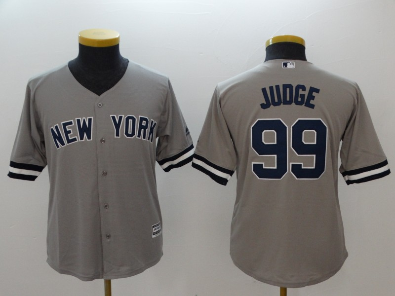 Yankees 99 Aaron Judge Gray Youth Cool Base Jersey