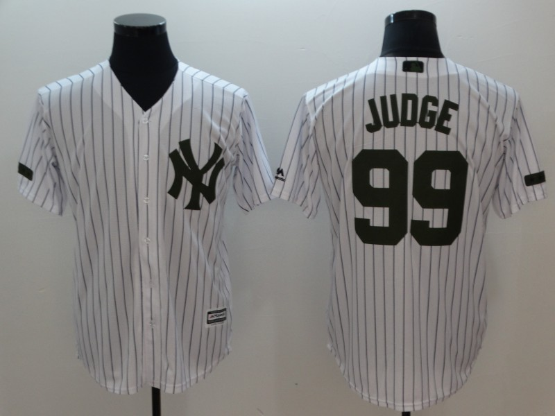 Yankees 99 Aaron Judge White Olive Cool Base Jersey