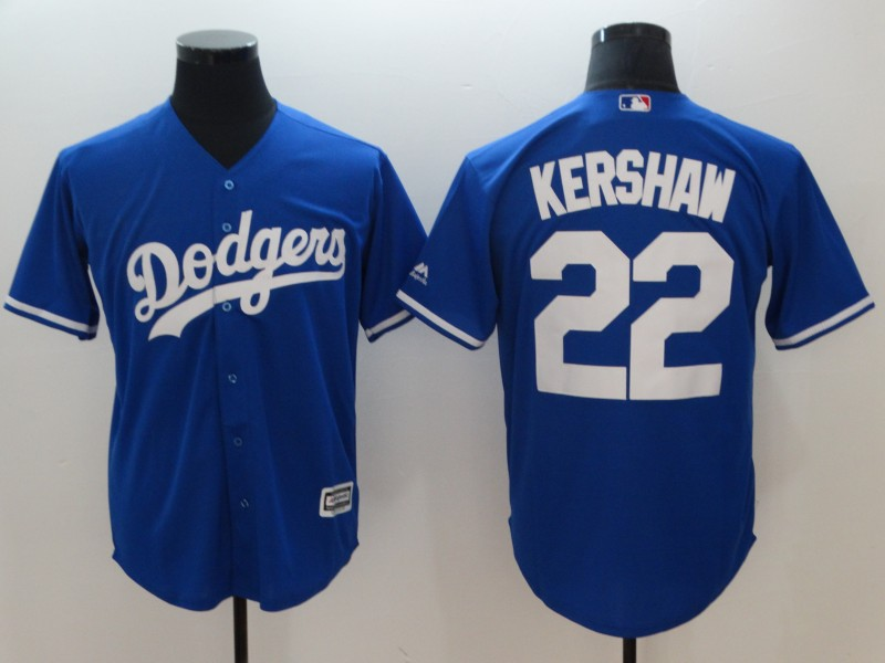 Dodgers 22 Clayton Kershaw Blue Cool Base Jersey