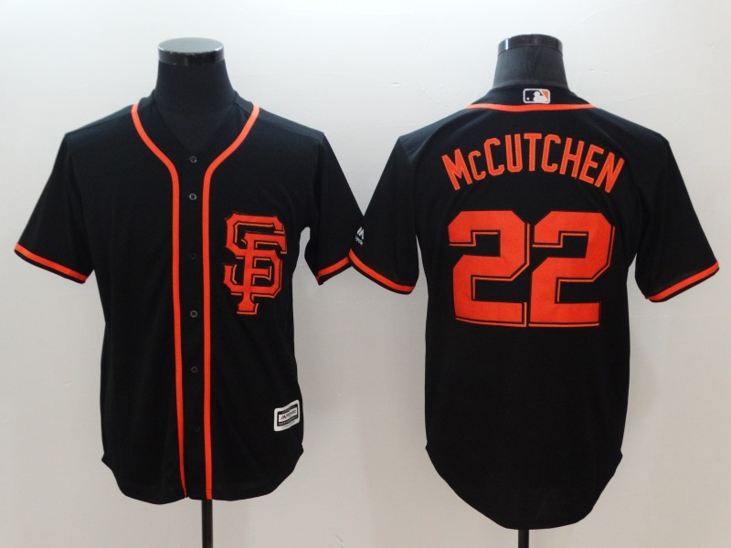 Giants 22 Andrew McCutchen Black Cool Base Jersey