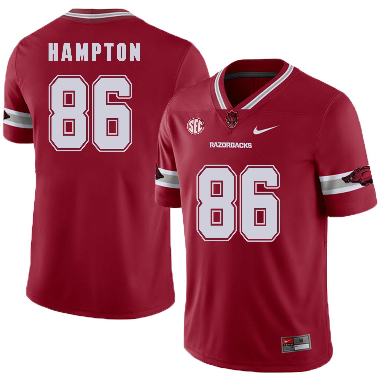 Arkansas Razorbacks 86 Dan Hampton Red College Football Jersey